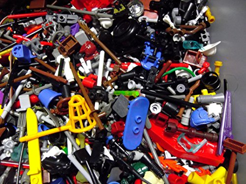 Improved! (X20) Lego Minifigure Accessories - Hats, Weapons, Tools, Flippers Etc (Cheap Halo Guns compare prices)