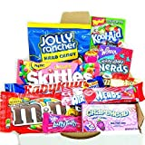 Mini American Sweet Hamper Candy/Chocolate/Wonka/Nerds Christmas/Birthday Gift - in a White Card Box - Version 2