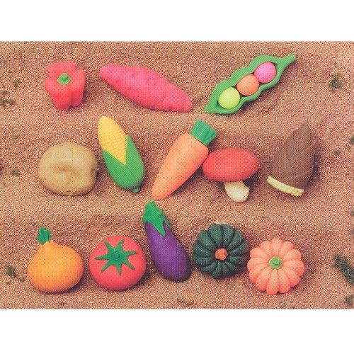 Iwako Japanese Erasers /Vegetable Collection 13 Pcs.