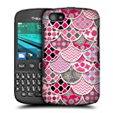 Head Case Pink And Grey Scallop Quilts Hard Back Case Cover For Blackberry 9720