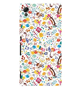 KIDS ENJOYMENT STUFF IN AN ABSTRACT PATTERN 3D Hard Polycarbonate Designer Back Case Cover for Sony Xperia Z4 :: Sony Xperia Z4 E6553