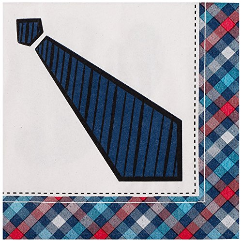 Party Destination 223993 Little Man Mustache Lunch Napkins - 1