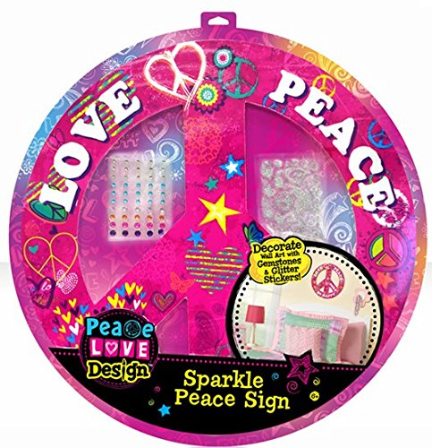 Love & Peace Sparkle Peace Sign Wall Art Kit
