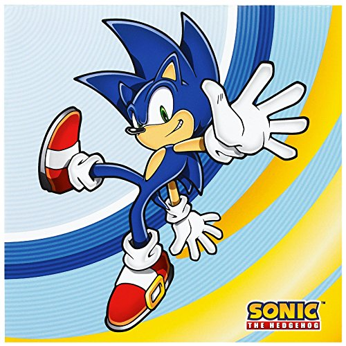 Party Destination 233407 Sonic the Hedgehog Lunch Napkins