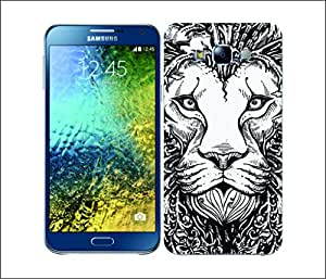 Galaxy Printed 1604 DOODLE ANIMAL FACE LION Hard Cover for samsung A5