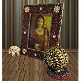 Indian Home Decor Frame Table Top Vintage Style Handmade Frame Handicraft Picture Frame Single Photo Set