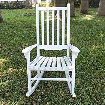 Merry Garden - White Porch Rocker/Rocking Chair Acacia Wood