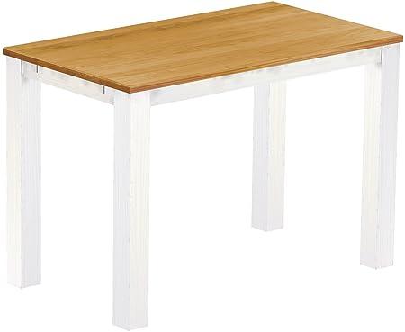 Brasil High Table 'Rio' 160x 90cm, Solid Pine Wood Honey Colour–White