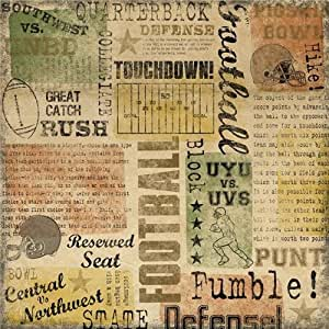 """Football Paper 12""""X12""""-Game Day Collage  25 per pack"""