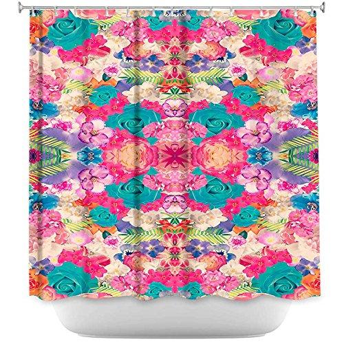 Shower Curtain Artistic Designer from DiaNoche Designs Stylish, Decorative, Unique, Cool, Fun, Funky Bathroom - Bella Flora