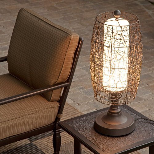 Bristol 68287 Bronze 30-Inch Table Lamp With Walnut Wicker Shade