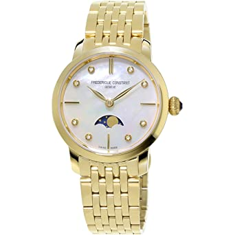 Frederique Constant Slimline Mother of Pearl Dial Ladies Watch FC-206MPWD1S5B