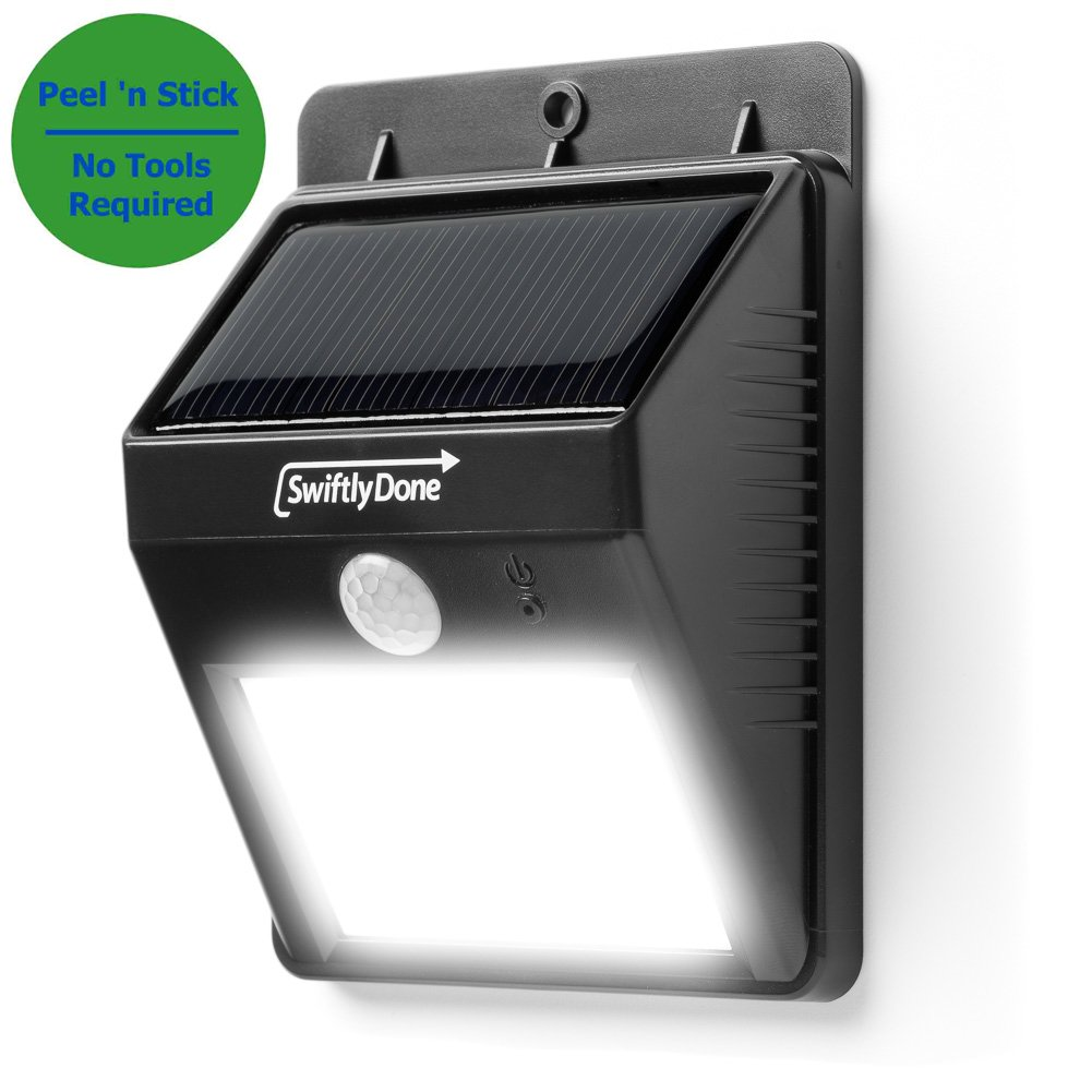 Swiftly Done Bright Outdoor LED Light Solar Energy Powered Weatherproof