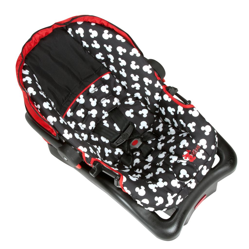 disney baby mickey mouse light n comfy luxe infant car seat mickey silhouette ebay. Black Bedroom Furniture Sets. Home Design Ideas