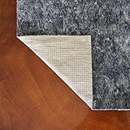 7x9 Felt and Rubber Rug Pad- Non Slip Rug Pad- 1/4 inch Thick Felt Rug Pad w/ Natural Rubber Backing- Anchor Grip 22