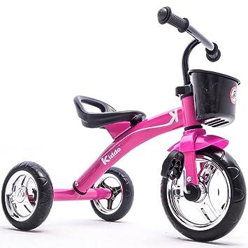 Kiddo Rose 3 Wheeler Conception intelligente Kids enfant enfants Trike Tricycle enfourchables Bike 2-5 ans nouveau - Rose