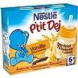 Nestl� B�b� P'tit Dej Vanille gourmande - Brique Lait & C�r�ales d�s 6 mois - 2 x 250ml - Lot de 4 (8 briques de 250ml)