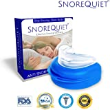 Anti Snoring Mouthpiece Custom Guard Sleep Aid Apnea Stopper Solution by SnoreQuiet - Pure Pro Nighttime Mute Sleep Relief Mouthguard & Bruxism Anti Snore Device Night Guard (2018) (Tamaño: 1 Device)