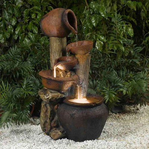 Pentole Pot Indoor/Outdoor Fountain with Illumination