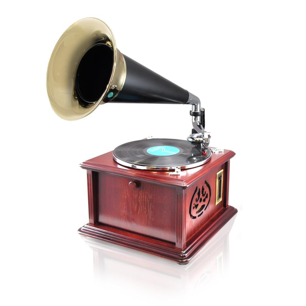 Pyle PUNP32BT Vintage Retro Classic Style Bluetooth Turntable Phonograph Speaker Sound System 2