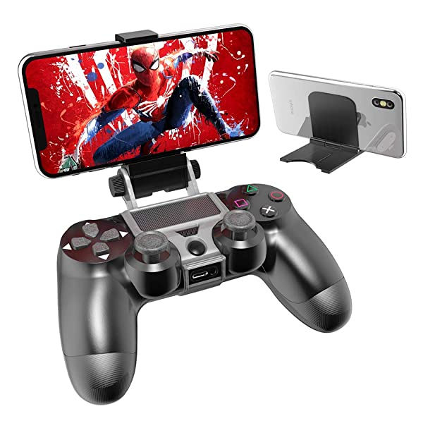 PS4 Controller Phone Remote Play Mount, OIVO PS4 Controller Mount Clip with Adjustable Stand