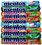 Mentos Chewy Candy 4-Flavor Variety: Two 1.32 oz Rolls Each of Mint, Spearmint, Rainbow, and Strawberry in a Gift Box