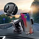 Wireless Car Charger Mount, Automatic Clamping 7.5W /10W Qi Fast Charger, Windshield Dashboard Air Vent Phone Holder Compatible with iPhone Xs/Xs Max/XR/X/ 8/8 Plus, Samsung Galaxy S10 /S10+/S9 /S9+/S
