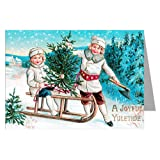 Victorian Children Picking out the Christmas Tree Vintage Holiday Greeting Cards Boxed Set