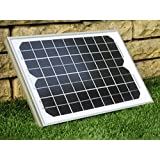 PK Green Solar Panel 10W 12V Monocrystalline - Grade A Solar Cells (10W + Cable)