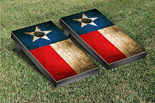 Texas Flag Vintage Cornhole Game Set (Texas Corn Hole Bags compare prices)