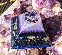 Orgone Pyramid ~ Third Eye Chakra Crystal Pyramid