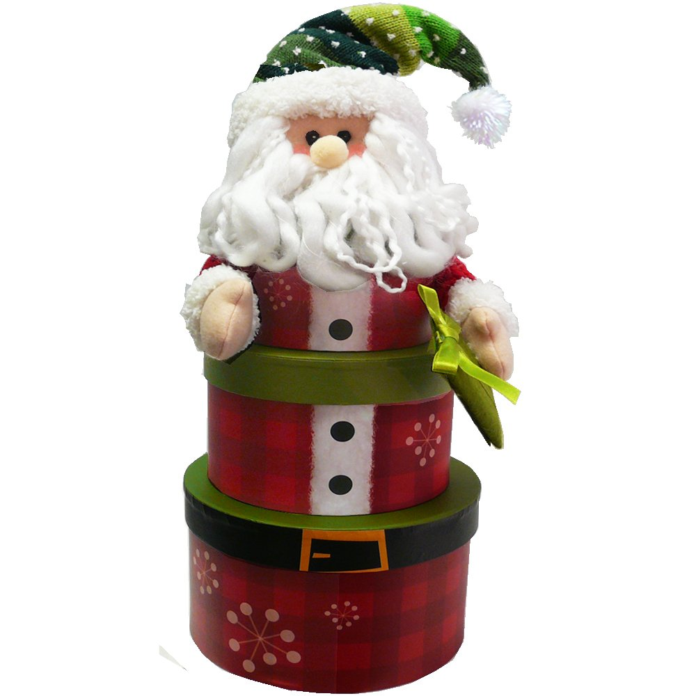 Papai Noel Empilhamento Torre de Natal Holiday Gift Basket