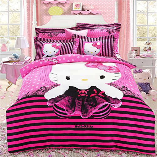 Brandream-Pink-Hello-Kitty-Bedding-Cute-Cartoon-Kids-Bedding-Set-Twin-Full-Queen-Size