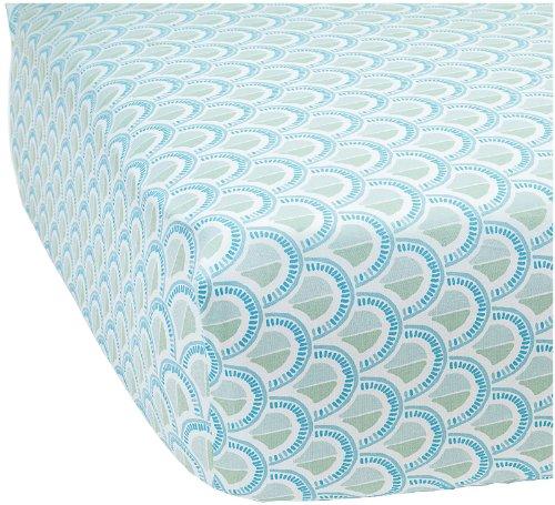 Serena & Lily Scale Crib Sheet- Celadon - 1