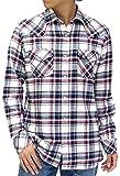 (ルーシャット) ROUSHATTE シャツ メンズ 長袖 カジュアル チェック 4color M オフホワイト