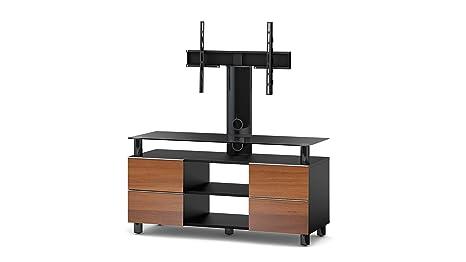 Accord TRN3210 B-APL Sonorous TV-Möbel fur 50 Zoll Fernseher, Holz, braun, 45 x 120 x 60 cm