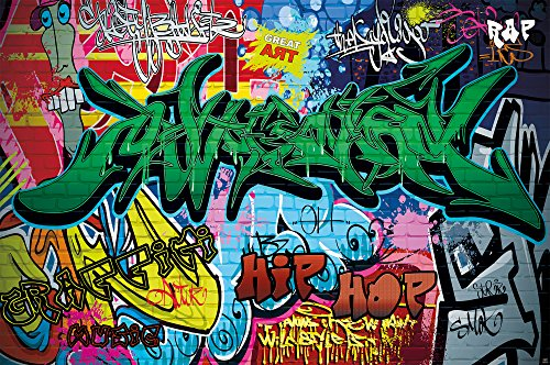 poster graffiti wand dekoration bunte zeichen schriftz ge pop art mauer street style writing hip. Black Bedroom Furniture Sets. Home Design Ideas