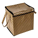 Home Candy Elegant PVC Foldable Laundry Bag - Brown