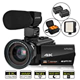 Video Camera, 4K Camcorder AiTechny Digital WiFi Camera 48MP 16X Digital Zoom Recorder WiFi Camera 3.0
