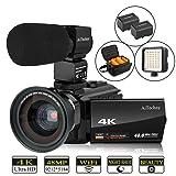 Video Camera, 4K Camcorder AiTechny Digital WiFi Camera 48MP 16X Digital Zoom Recorder WiFi Camera 3.0
