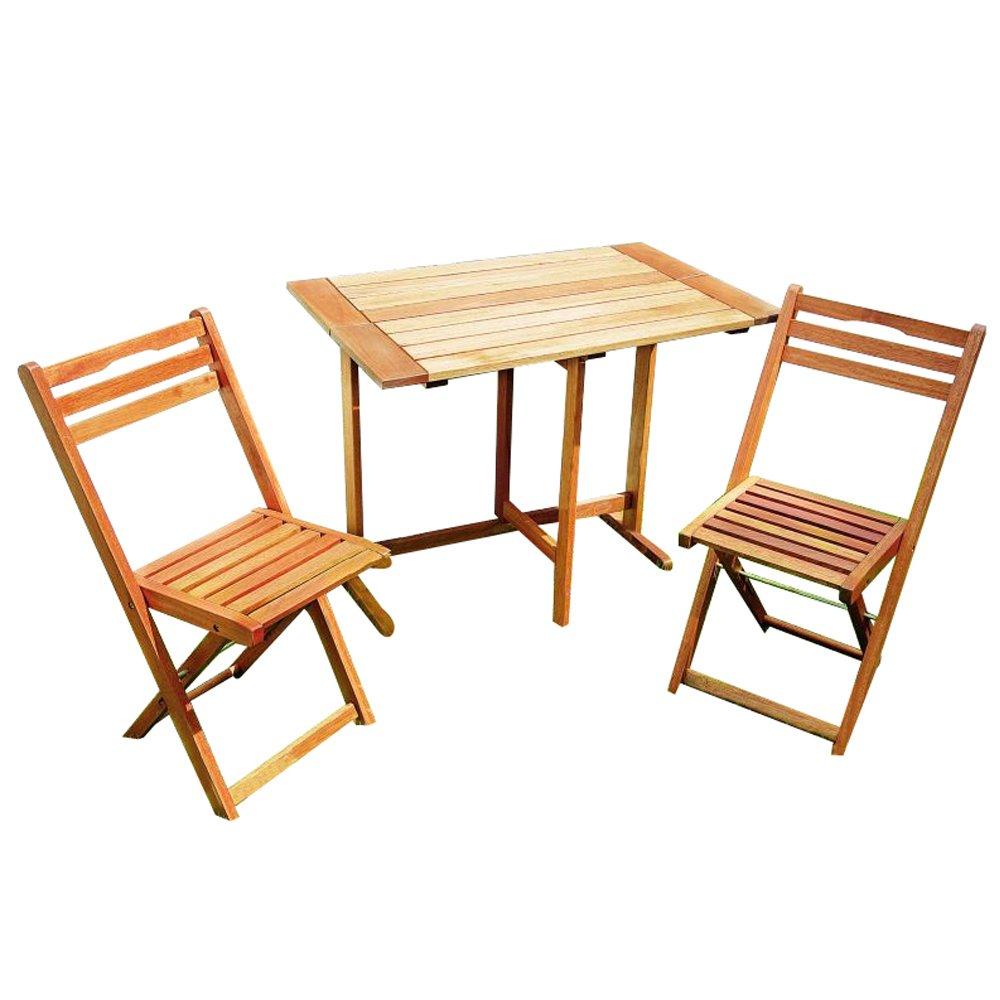 MERXX Gartenmöbel-Set Porto aus Holz - klappbar, 3-teilig