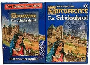 Hans im Glück 48195 Carcassonne: Schicksalsrad, Buch&Spiel