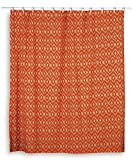 Rizzy Home Ikat Shower Curtain, Orange/Ivory