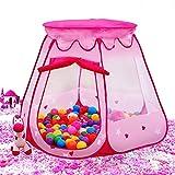 BATTOPピンク姫テント 室内または屋外 1 ~ 8歳の子どもがゲーム玩具テント ボールは含まれていない