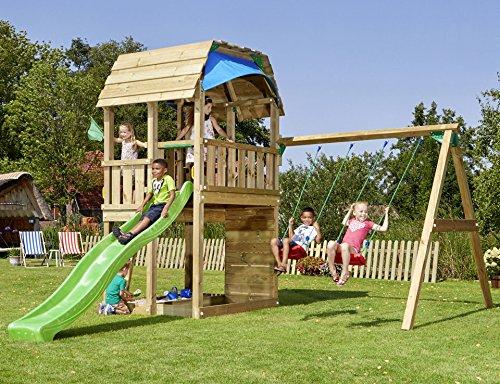 BM MASSIVHOLZ Set: Spielturm »Jungle Barn«, Gesamtmaße (B/T/H): 450/490/320 cm