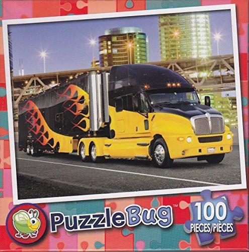 Puzzlebug 100 Piece Puzzle ~ Big Flaming Rig