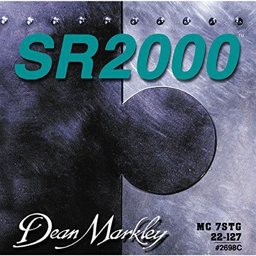 Dean Markley SR2000 Bass Strings 2698C Custom Nickel Plated Bass Guitar Strings, 7-String , 22-127, Medium (Deans Bass Guitar compare prices)