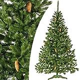 PREMIUM SERIE 180 cm künstlicher Tannenbaum Weihnachtsbaum Zapfen Fichte Nachwuchs Lux