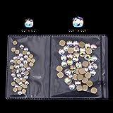 100pcs New Nails Design Foild Square Round Corner Glass Flat Back Shape Nail Art Decoration Stones and Gems Supplies Mix Sizes(50pcs each size)