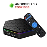 2018 Model Android 7.1 TV Box,T95Z Plus Android TV Box Amlogic S912 Octa Core 2GB RAM 16GB ROM Support Dual WiFi 2.4G/5GHz Ethernet 1000M LAN 64-Bit H.265 Bluetooth 4.0 True 4K 3D Mini PC TV Boxes